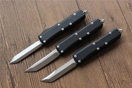 Wholesale Assisted Blade - Ultratech UTX-85 Spring Assist Tactical hunting knife D2 blade Aluminum Handle Outdoor knives with screwdriver camping Survival pocket knife