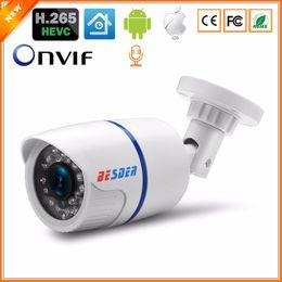 caméra onvif 5mp Promotion BESDER H.265 Audio 2MP 3MP 5MP CCTV Caméra de sécurité IP Alerte de détection de mouvement Extérieur Onvif Surveillance Caméra IP Vision nocturne