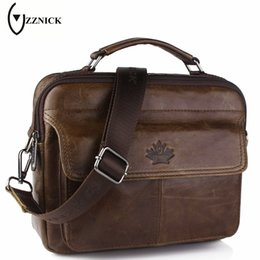 ZZNICK 2017 New Genuine Leather Bag Casual Handbags Cowhide Men Crossbody Bags  Men s Travel Bags Tote Laptop Briefcases Men Bag f264e661580cf