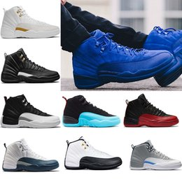 Wholesale Game Master - (with box) Mens 12 12s basketball shoes ovo white Taxi the master Flu Game wolf grey french blue wool Sports sneakers eur 41-47