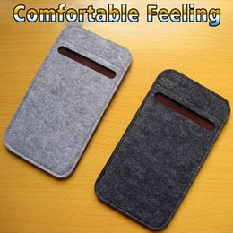 bag lg NZ - Durable Felt Phone Case 4.7 5.5 inch mobile phone bag custom made LOGO For iPhone samsuang vivo sony LG