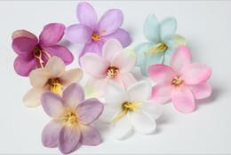 Wholesale Wholesale Jasmine Flowers - DIY manual simulation of jasmine, lily, orchid, flower, headdress, dress, hat, decoration, flower and beach, flowers, L054.