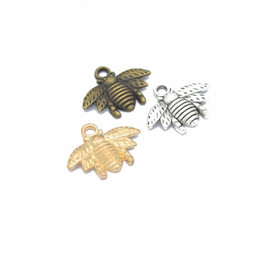 Fascino di miele online-bulk 500 pz / lotto 5 colori bumblebee honey bee pendenti di fascini per monili che fanno mestiere di DIY 20 * 16mm