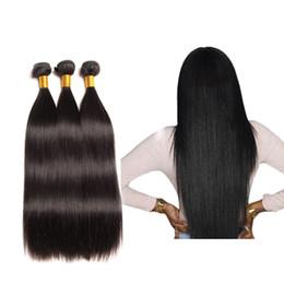 2019 tessuto all'ingrosso dei capelli umani all'ingrosso Capelli vergini 100% brasiliana peruviana indiana onda diritta non trattata capelli umani di colore naturale estensioni all'ingrosso dei capelli tessuto all'ingrosso dei capelli umani all'ingrosso economici