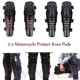 Accesorios de rodilla online-Motorcycle Riding Knee Protector Moto Racing ATV Knee Elbows Pads Guards Set Deportes al aire libre accesorios de artes de protección BBA203