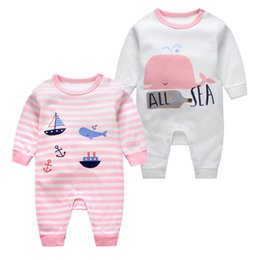 a696b427f1e00d billige babykleidung Rabatt 100% Baumwolle Neugeborenes Baby Kleidung  Langarm Cartoon Overall Jungen Mädchen Cheapphigh Qualität