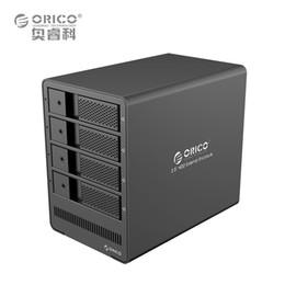 "Wholesale Black Docking Station - ORICO 4 Bay Aluminum USB3.0 to SATA 3.5"" HDD Docking Station Drive Enclosure Tool Free Storage External support 4 x 8TB Black"
