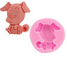 2019 molde de chocolate para cães Ferramenta de cozimento do molde do bolo do silicone do zodíaco chinês dog pig modelagem diy manual de chocolates molde de açúcar venda quente 5 2sk v molde de chocolate para cães barato