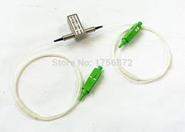 Wholesale Fiber Apc - Free Shipping 1x1 Mechanical Fiber Optic Switch SC APC Connector