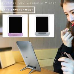 2019 usb привел змеиный свет  New LED 3Gear Smart Touch Kickstand Adjustable Girls/Kids USB Rechargeable Makeup Countertop Mirror Nightlight Table Lamp