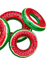 aufblasbare schwimmer für erwachsene Rabatt Schwimmen Float Für Erwachsene Watermelon Schwimmen Ring Inflatable Floats Pool Floats Aufblasbare Wassermelone-Schwimmen-Ring Wassersport Spielzeug 6kl d