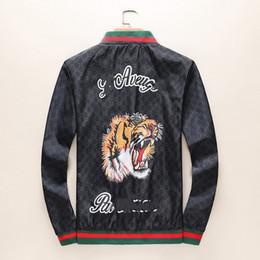 hoodie animale tigre Sconti Tigre Giacca da uomo a maniche lunghe Giacche da uomo Giacca con cappuccio Zipper con motivo a lettere animali Taglie forti M-3XL
