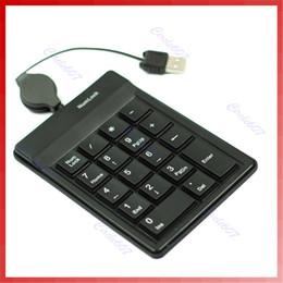 Wholesale pc keyboard types - 2018 High Quality Silent Type Plug and Play USB Numeric Keypad Mini Number Pad Numpad 18 Keys Keyboard for Laptop Desktop PC