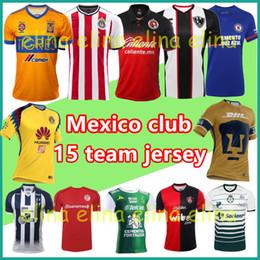 Wholesale Club America White Jersey - 2018 Liga MX soccer jersey home away Third mexico club america chivas Monterrey tigres uanl toluca tijuana Club Leon Soccer tracksuit custom