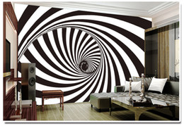 Wholesale Korean Ktv - Large fresco abstract personality bar KTV casual bar TV film wall background wallpaper wallpaper black and white whirlpool