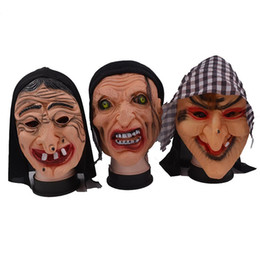 horrible costumes Promo Codes - Halloween Ugly Witches Horrible Mask Theme Costume Accessories Men Funny Party Stage Cosplay Pranks Headgear Mask