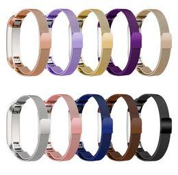 accesorios reloj de pulsera Rebajas Para Fitbit Alta Pulsera de metal magnética milanesa Loop Banda de reloj Banda de pulsera de acero inoxidable Pulsera Accesorios coloridos