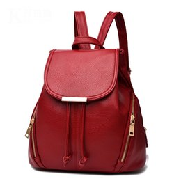 e6b5c246d849 2018 Trendy Women Backpack High Quality PU Leather Double Zipper School Bags  For Teenagers Girls Solid Top-handle Travel Casual Backpacks