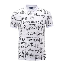 Wholesale Show Trade - Hot Sale Men's Wear Short Sleeve Lapel T Pity Men's Brand Printing Foreign Trade Leisure Time Show Solicitude For Letter Printing