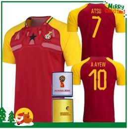 Wholesale Michael Shirts - Best quality 18 19 Ghana red national team. Michael Essien 2018 Shirt home A.GYAN A.Ayew MUNTARI Asamoah J.Ayew Soccer Jerseys