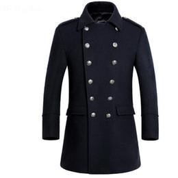 Cappotto di lana da uomo doppiopetto di alta qualità da uomo invernale 2017 da