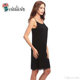 Vislivin Lady Cotton Nightgown Women Nightwear Night Dress Female  Sleeveless Nighty Sleepwear Sleep Sleepshirt Home Clothes 6cf70ed43
