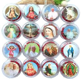 Bijoux religieux rouge arome chaîne de perles en bois catholique prière perles Crucifix croix pendentif chapelet collier de noël cadeaux de Pâques ? partir de fabricateur