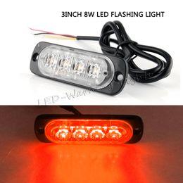 Wholesale Amber Flashing Beacon - free shipping 4pcs 8W LED strobe light amber safety Emergency flashing beacon light bulb for 4x4 SUV pickup truck trailer vehicles