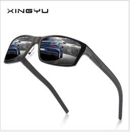 Materiale di alluminio incorniciato online-Occhiali da sole polarizzati da uomo, tutti materiali in alluminio e magnesio, occhiali da sole, montature classiche, occhiali da guida, occhiali da pesca.