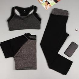 Wholesale Women Professional Wear - 3PCS set Sports Yoga Set Women Professional High Quality Yoga Sports Suit Clothes Sport Wear Training Suit Sport wear
