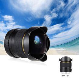 8mm F 3.5 Aspherical Circular Camera Lens Ultra Wide Fisheye Lens for Canon DSLR 550D 650D 750D 77D 80D 1100D Cameras
