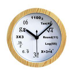 Wholesale Circular Decoration - Homingdeco Mathematical Formula Style Imitation Round Quartz Clock Silent Desktop Desk Table Clock Office Home Decoration Gift