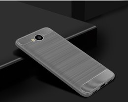 Wholesale carbon fibre brush - 1.5mm Hybrid Armor Case For Huawei Y6 2017 Y5 2018 Nova Young Y5 Pro 2018 Y5 Prime 2018 Carbon Fibre Brushed Silicone Phone Case Shell