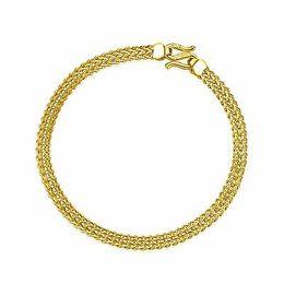 2019 einzigartige goldketten New Style Pure 999 24K Gelbgold Kette Frauen Einzigartige Link Armband 6,5 Zoll rabatt einzigartige goldketten