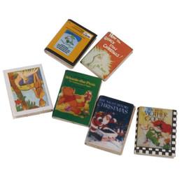 große plastikpuppen Rabatt Neu 1/12 Hölzernes Puppenhaus Miniaturbücher 6 Stück bunt