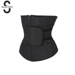 50595b3e1cd Black Shapers Abdominal Belt High Compression Zipper Plus Size Latex Waist  Cincher Corset Underbust Body Waist Trainer NYQ6593