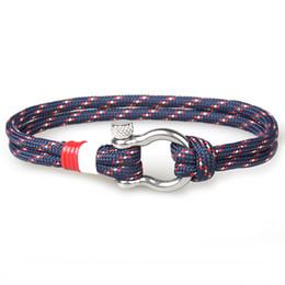 2019 cordão de pulseira de aço Presente de natal Artesanal Duplo 550 Paracord Pulseira Multi Cor Cord Pulseira de Aço Inoxidável Fivela para Venda