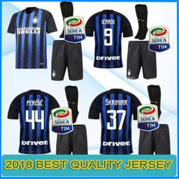 a643c9dbc 2018 2019 inter Soccer jersey CANDREVA ICARDI EDER KONDOGBIA PERISIC Milan  full Set Sock Maillot de foot football shirts kit