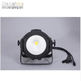 Wholesale Truss Wholesale - 2Pcs Lot Zita Lighting LED Par Lights COB Par Cans Stage Lighting 200W 2IN1 WW WH DMX512 Trusses Wall Washer Disco Party Effect