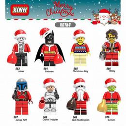 Model Building 2018 Single Sale Legoing Merry Christmas Darth Vader Yoda Deadpool Joker Granny Santa Claus Building Blocks Toy Child Gift X0222