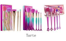 Attrezzo di avvitamento online-5 pezzi un set marca pennelli trucco set cosmetici pennello spirale gambo trucco pennello unicorno vite strumenti trucco 3 stili