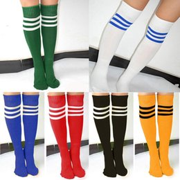 83a32c1c6 Unisex Adult Striped Soccer Baseball Football Socks Thicken Over Knee Ankle  Sports Long Socks for girl Women