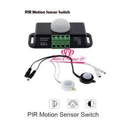 Wholesale Infrared Red Sensor - DC12V-24V 8A Automatic Infrared PIR Motion Sensor Switch for LED Strips Light