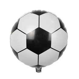 18 polegadas Reutilizável AL Revestimento Decor Balão 45 cm Futebol Basquete Voleyball Foil Balões para Ball Game Fans Partido Bar KTV 2018 Copa Do Mundo de Fornecedores de brinquedos baratos grossistas