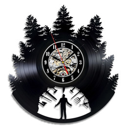 Wholesale unique ideas - diy gift for clock change 2018 Vinyl wall Clock Art gift room modern Home Record Vintage decoration time Clock unique Gift idea