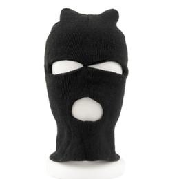 High Quality Black Balaclava Sas Cs Style Winter Wind Ski Hat For Men Women Cap  3 Hole Mask Neck Warmer Apparel for Men Women 758928cd8780