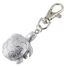 Con textura de plata del tono de la tortuga colgante Hunter caso llavero reloj desde fabricantes