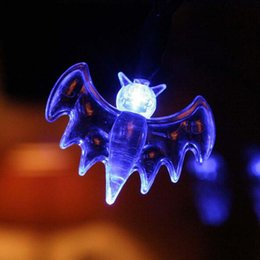 Wholesale plastic toy bat - New Coming Creative Design Bat Shape Light-up Toys LED Strip Kid's Party Festive Toy Blue  Pink Available