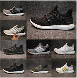 Wholesale Three Floors - 2017 Ultra Boost 3.0 Triple CORE Black white THREE for Women's MEN'S Running Sport Shoes breathable sneaker