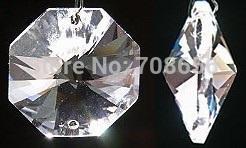 2019 ornamenti di vetro di vetro 2000 pz 14mm di cristallo di vetro ottagono perline suncatcher prismi di vetro lampadario di cristallo perline di vetro per lampadari lampadario lampada perline